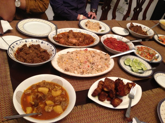a typical Bangladeshi dinner